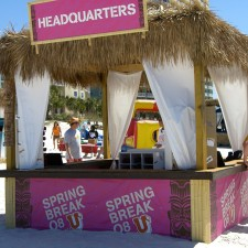 MTV's beach headquarters for their spring break experiential marketing campaign