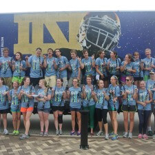 adidas college marketing with Notre Dame's marching band clarinet section