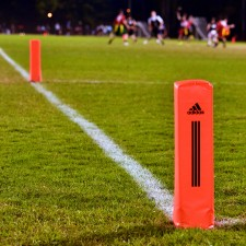 adidas college marketing included branded football field endzone markers