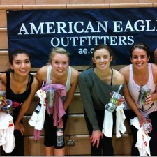American Eagle college brand ambassadors are ready to work out