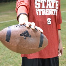 branded footballs as part of adidas' college marketing at North Carolina State University