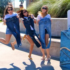 American Eagle college brand ambassadors jump for joy over AE jeans