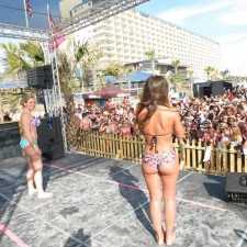 brand ambassadors on stage during spring break