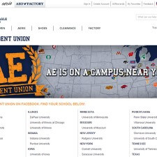 American Eagle's college marketing included a branded website