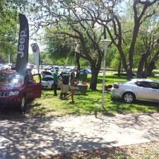 Chrysler Group's experiential marketing campaign included cars on the college campuses
