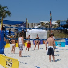 Fuze's experiential marketing to millennials campaign included games such as beach volleyball