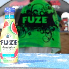 Fuze's experiential marketing campaign in Panama City Beach, FL included full size sample giveaways