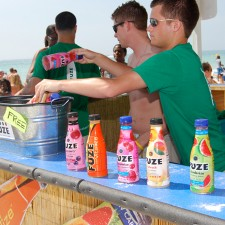 Marketing to millennials with full-size samples of Fuze in Panama City Beach, FL