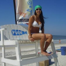Banners, signage, and other branded beach items in Fuze's experiential marketing campaign in Panama City Beach, FL