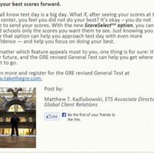 ETS uses blogging for college marketing