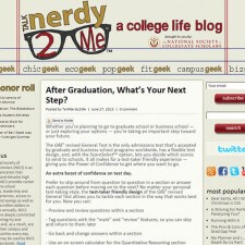 NSCS blogs to create word of mouth marketing for the GRE