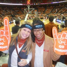 IMAX brand ambassadors at the University of Texas think a basketball place is a prime spot for peer to peer marketing