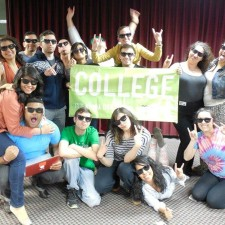 Silly poses from Neebo college brand ambassadors