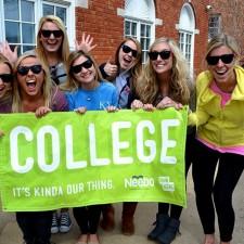 Neebo brand ambassadors celebrate the college marketing campaign