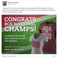 Neebo brand ambassadors employ word of mouth marketing for championship apparel