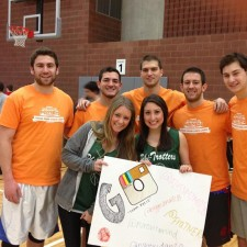 A basketball team of college brand ambassadors for PayPal