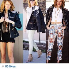 Peer to peer marketing with Instagram by a brand ambassador for Vince Camuto