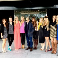 Vince Camuto college brand ambassadors pose with the man himself