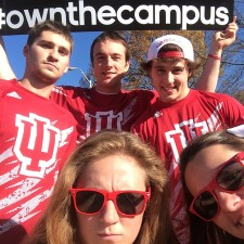 Indiana University adidas college brand ambassadors pose for a selfie