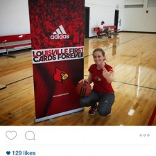 Peer to peer marketing for adidas on the University of Louisville campus during March Madness