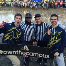 University of Michigan adidas brand ambassadors don't let the mud deter them; they still Own the Campus