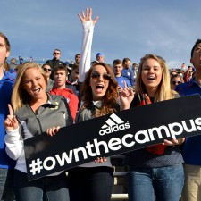University of Louisville college brand ambassadors Own the Campus in their adidas garb