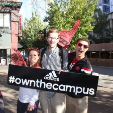 Peer to peer marketing for adidas' Own the Campus campaign