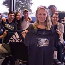 Georgia Southern college brand ambassadors proudly sport their adidas wear