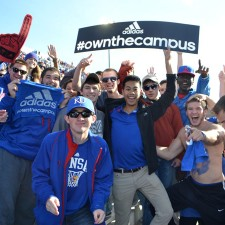 Kansas University college brand ambassadors show they Own the Campus in adidas wear