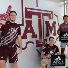 Texas A&M college brand ambassadors for adidas' Own the Campus campaign