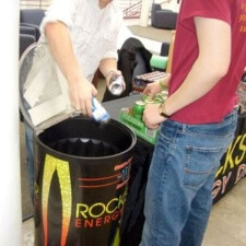 Rockstar Energy Drink hires college students as campus reps / brand ambassadors for experiential marketing campaign