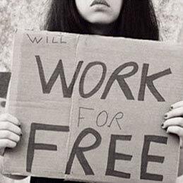 unpaid internship sign