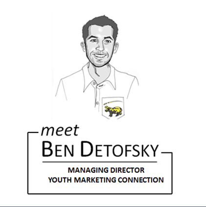 Ben Detofsky Managing Director of Youth Marketing Connection experiential marketing agency