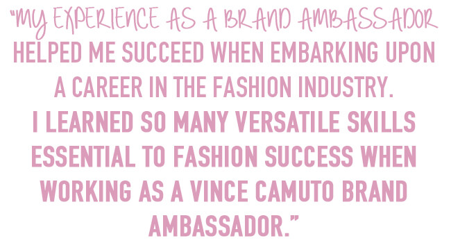 experience as brand ambassador in fashion industry