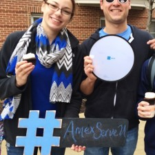 AmEx Serve college brand ambassadors with hashtag: #amexserveu