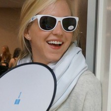AmEx Serve college brand ambassador in sunglasses