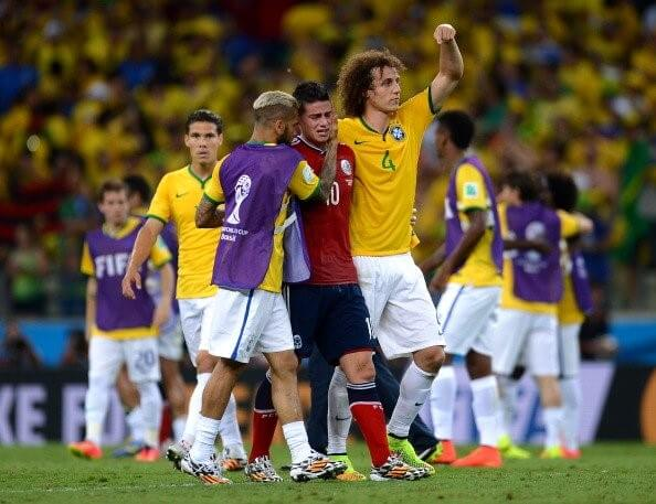 World Cup players comfort opponents after loss