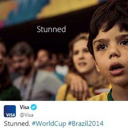 tweet from Visa that represents failed marketing campaign