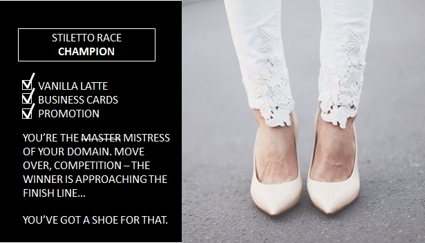 new ad campaign for Nine West with shoes for being a champion