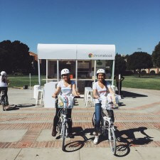 college brand ambassadors spread the word about google chromebook on bikes
