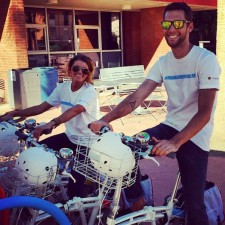 brand ambassadors for Google Chromebook on bikes