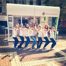 brand ambassadors for Google Chromebook on college campus