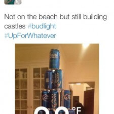 Bud Light brand ambassadors share beer can castle via word of mouth marketing