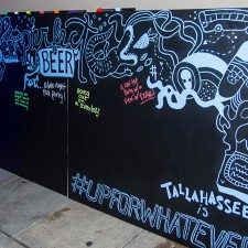 Tallahassee's word of mouth marketing for Bud Light graffiti-style