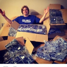 Bud Light college brand ambassador's word of mouth marketing about a sea of t-shirts