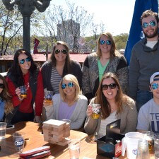 Experiential marketing: millennials toast with Bud Light
