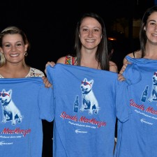 Bud Light college brand ambassadors show off their Spuds MacKenzie t-shirts
