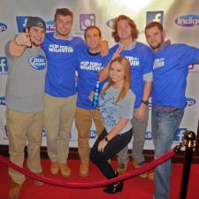 Bud Light's Up For Whatever college brand embassadors pose on the red carpet