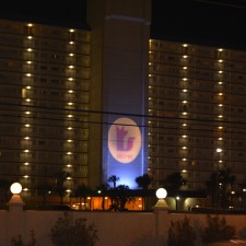 Marketing to millennials on spring break: Secret logo lights up a Panama City Beach hotel