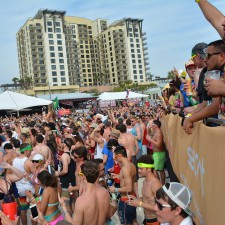Secret is marketing to millennials on a crowded beach in Panama City Beach during spring break